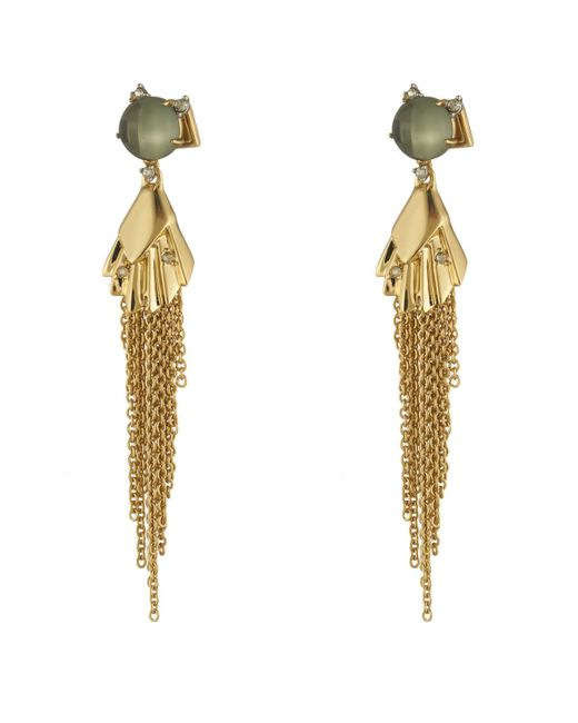 Alexis Bittar | Metallic Crystal Studded Dangling Tassel Post Earring You Might Also Like | Lyst