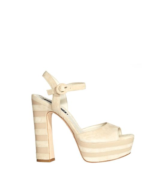 Alice + Olivia | Brown Light Tan Liberty Suede Heel | Lyst