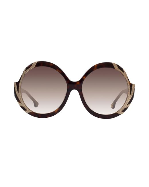 Alice + Olivia   Multicolor Stacey Crystal Sunglasses   Lyst