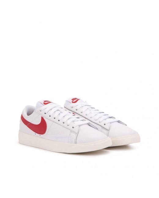 Nike - White Nike Wmns Blazer Low Prm for Men - Lyst ... ef99b9135