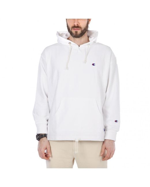 Champion - White X Beams Reverse Weave Terry Hooded Sweat for Men - Lyst