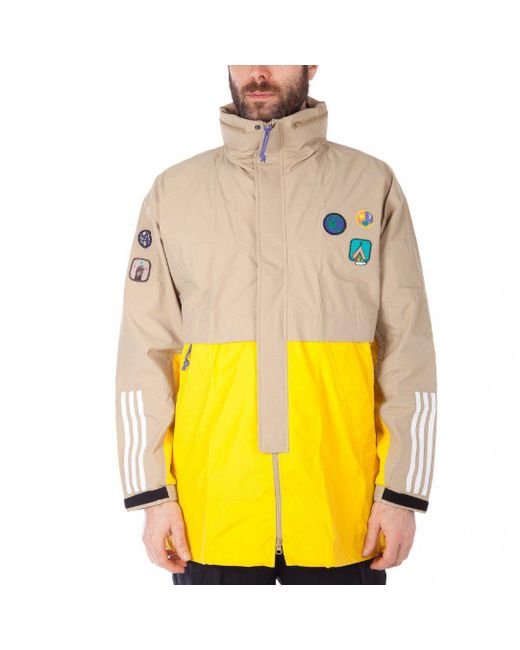 Adidas Originals - Natural Williams Hu Hiking 3-layer Jacket for Men - Lyst