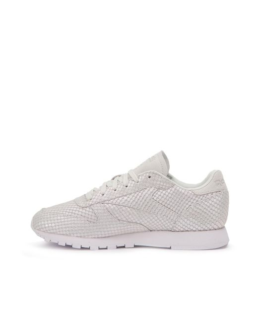 ... Reebok - Gray Classic Leather Textural W for Men - Lyst ... cf7d3dc50