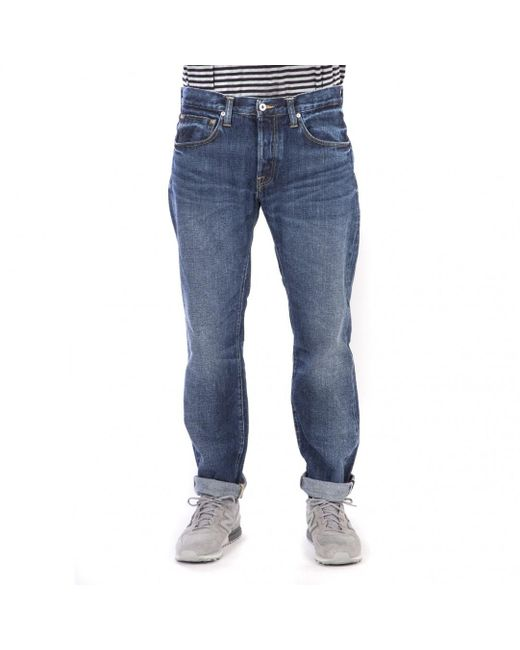 Edwin - Edwin Ed-55 Red Listed Selvage Denim Blue Contrast Clean Wash for Men - Lyst
