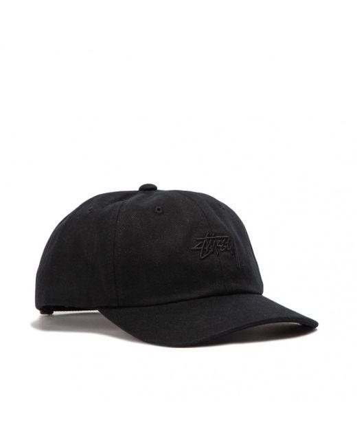 6b1d6ef0c01 Lyst - Stussy Stock Big Twill Low Pro Cap in Black for Men