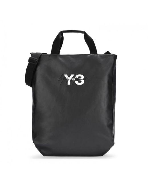 Y-3 - Black Logo Tote Bag for Men - Lyst
