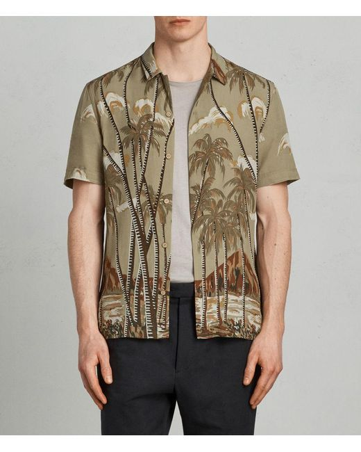 AllSaints - Natural Nalu Hawaiian Shirt for Men - Lyst