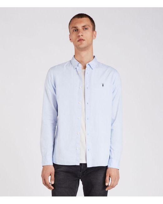 AllSaints - Blue Redondo Shirt for Men - Lyst