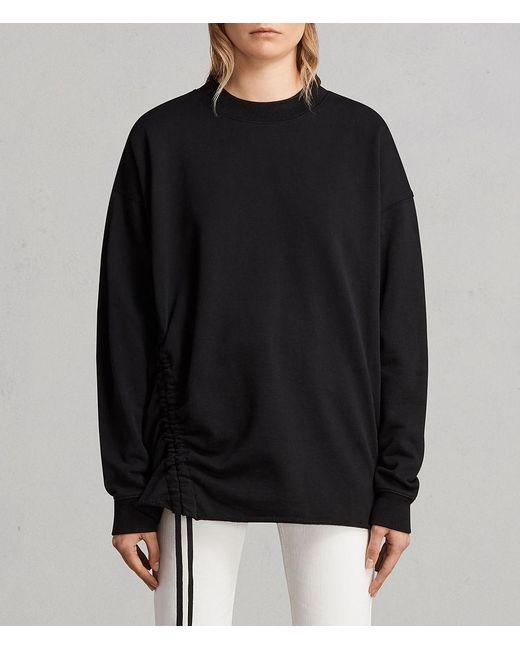AllSaints - Black Able Sweatshirt - Lyst