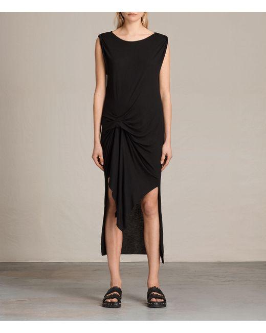 AllSaints   Black Riviera Tavi Dress   Lyst