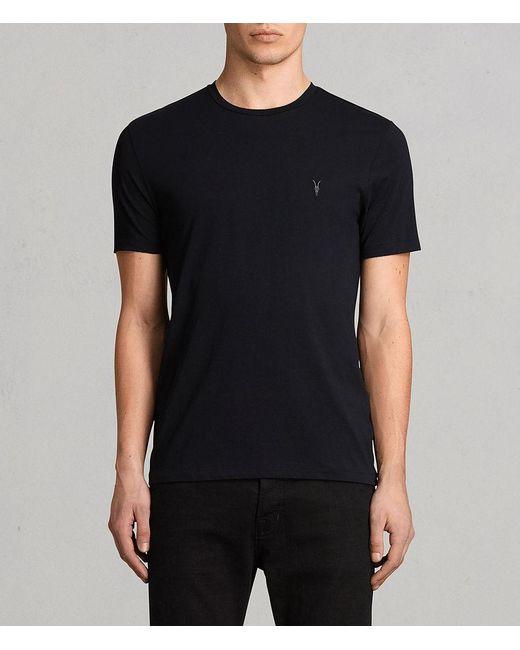AllSaints - Blue Tonic Crew T-shirt for Men - Lyst