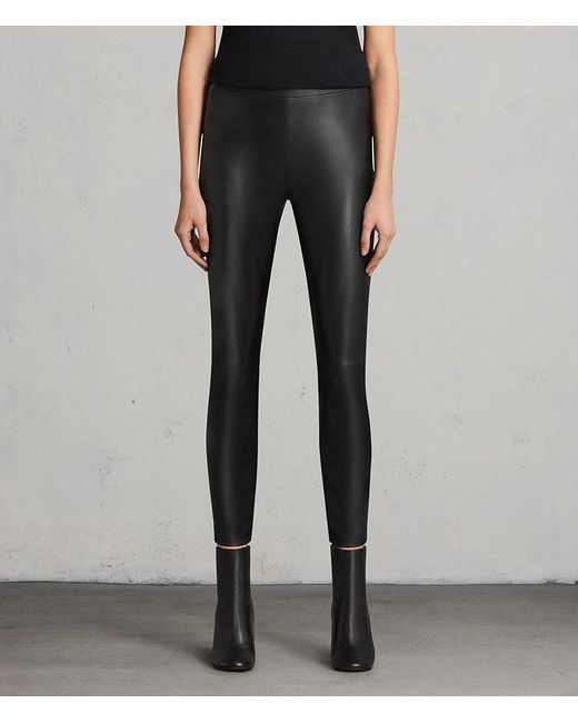 AllSaints - Black Isla Leggings - Lyst