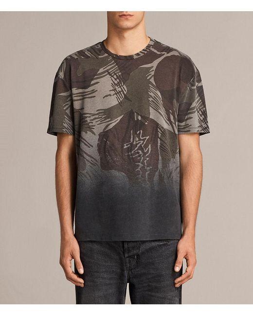 AllSaints - Black Contour Crew T-shirt for Men - Lyst