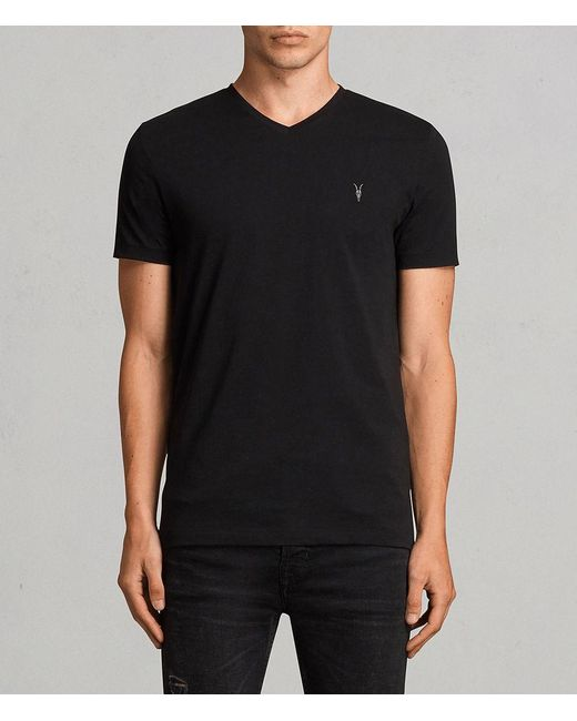 AllSaints - Black Tonic V-neck T-shirt for Men - Lyst
