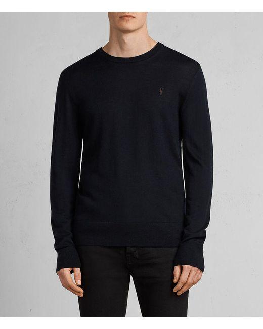AllSaints | Blue Mode Merino Crew Sweater for Men | Lyst