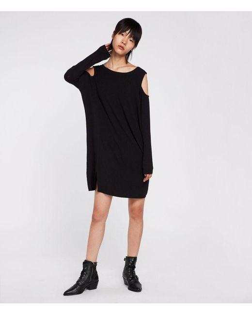 AllSaints - Black Esther Dress - Lyst