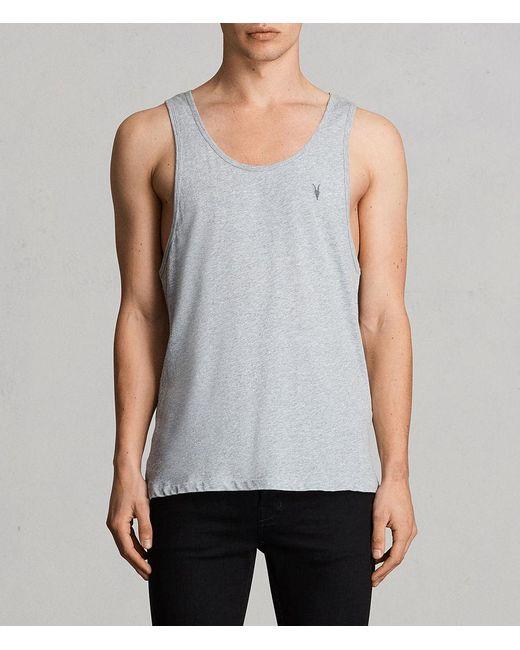 AllSaints | Gray Tonic Vest for Men | Lyst