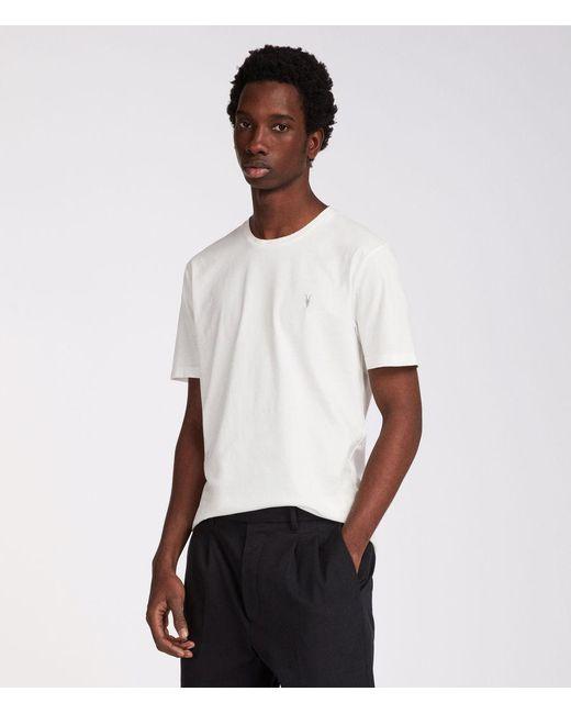 AllSaints - White Ossage Crew T-shirt for Men - Lyst