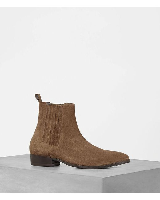 AllSaints | Brown Curtis Chelsea Boot | Lyst