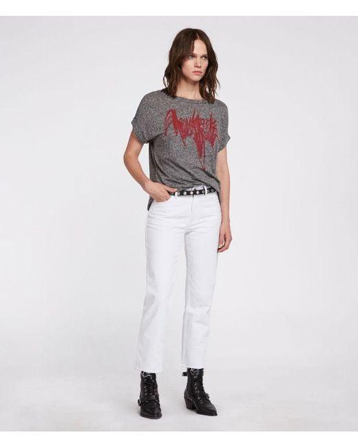AllSaints - Gray Nyc Imogen Boy T-shirt - Lyst