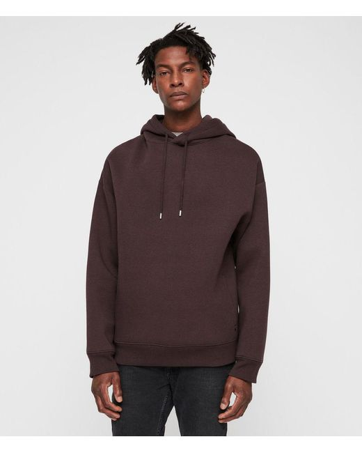 AllSaints - Red Hibard Pullover Hoodie for Men - Lyst