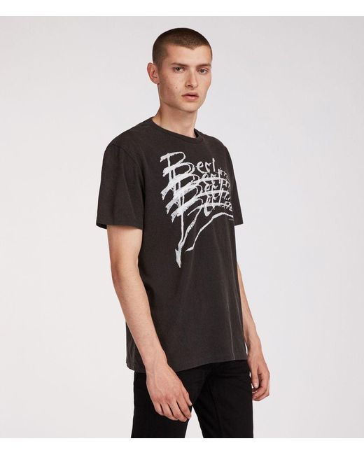 AllSaints - Black Berlin Crew T-shirt for Men - Lyst