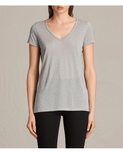 AllSaints | Gray Malin Silk T-shirt | Lyst