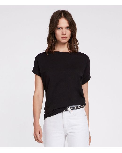 AllSaints - Black Pure Cotton Imogen Boy T-shirt - Lyst