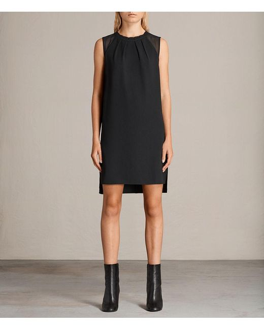 AllSaints - Black Jay Dress - Lyst