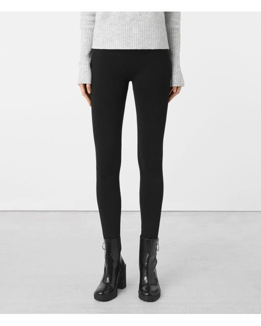 AllSaints | Black Bri Leggings | Lyst