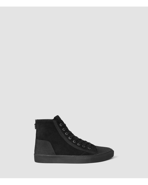 AllSaints | Black Circuit Hi-top for Men | Lyst