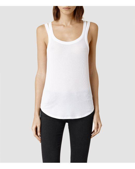 AllSaints | White Colette Strap Vest | Lyst
