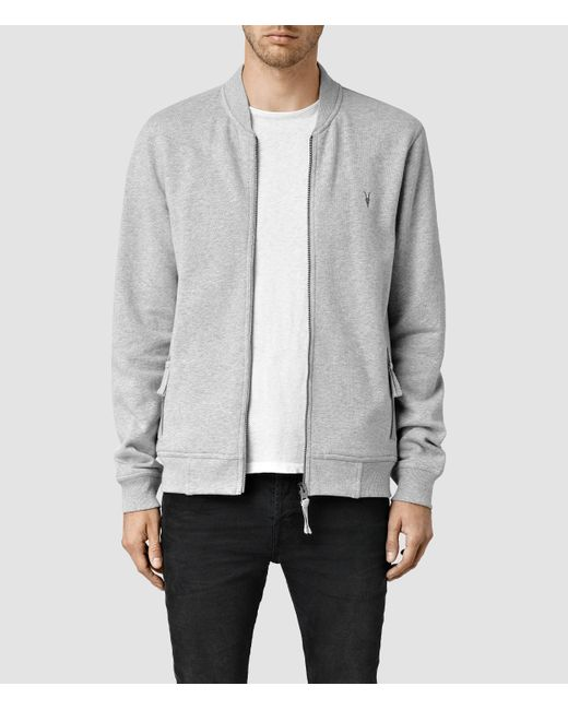 AllSaints | Gray Oldsen Bomber for Men | Lyst