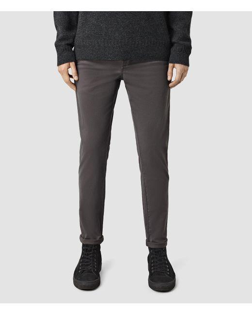 AllSaints | Gray Stove Lumen Chino for Men | Lyst