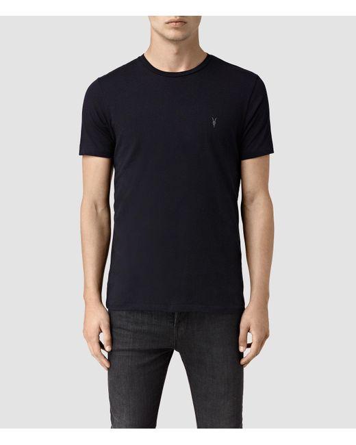 AllSaints | Blue Tonic Crew T-shirt for Men | Lyst
