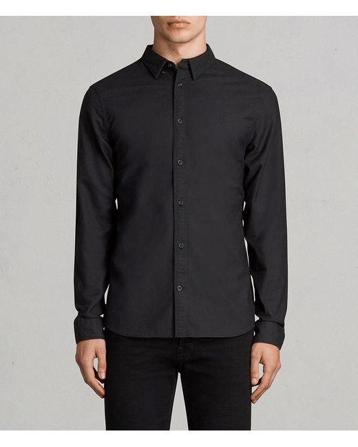 AllSaints - Black Huntingdon Shirt for Men - Lyst