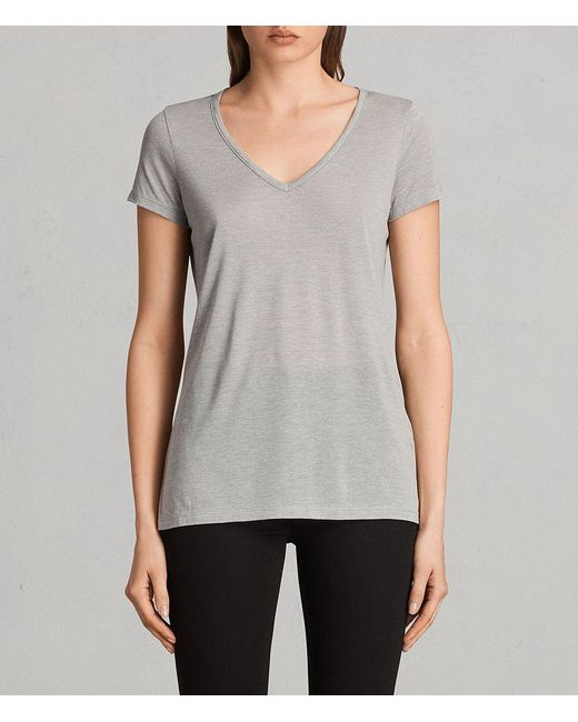 AllSaints - Gray Malin Silk T-shirt - Lyst