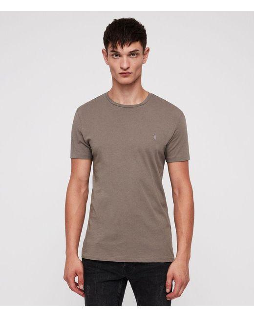 AllSaints - Gray Tonic Crew T-shirt for Men - Lyst