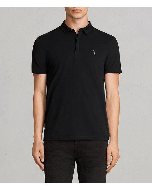 AllSaints - Black Brace Polo Shirt for Men - Lyst