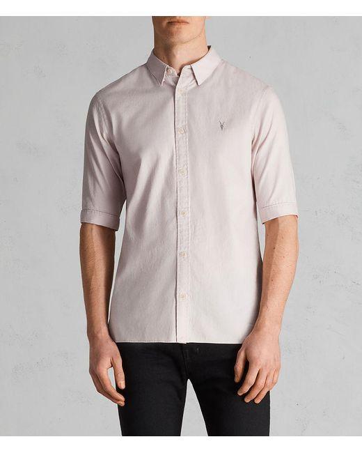 AllSaints - Pink Redondo Half Sleeve Shirt for Men - Lyst