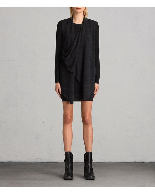 AllSaints - Black Drina Dress - Lyst