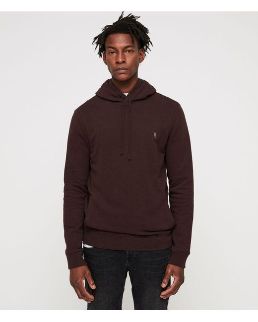 AllSaints - Red Raven Hoodie for Men - Lyst