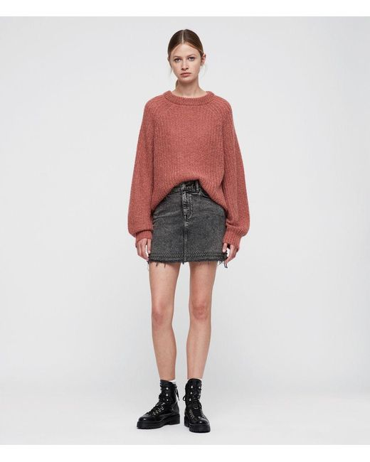 AllSaints - Multicolor Renne Short Sweater - Lyst