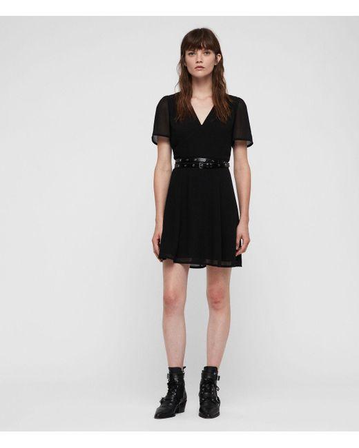 AllSaints - Black Lucia Dress - Lyst