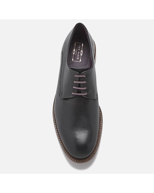 3706b24788daa3 ... Lyst Ted Baker - Black Men s Irron 3 Leather Derby Shoes for Men ...