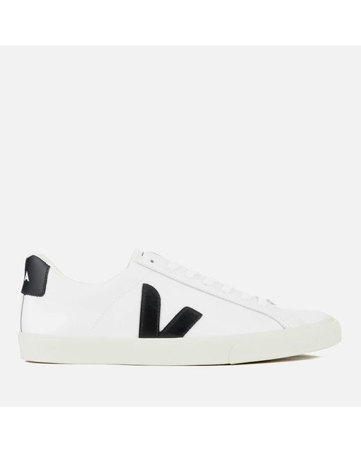 8f649b9a3adf Veja - White Esplar Leather Low Trainers for Men - Lyst ...