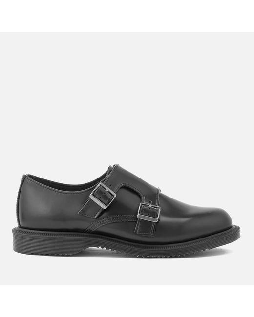 Dr. Martens - Black Women's Kensington Pandora Leather Double Monk Strap Shoes - Lyst