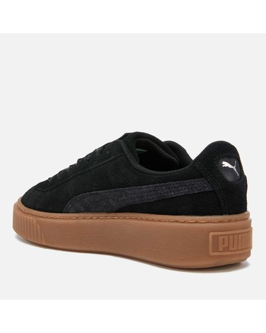 b9e9034fb07 ... PUMA - Wns Suede Platform Gum.blk Women s Shoes (trainers) In Black ...