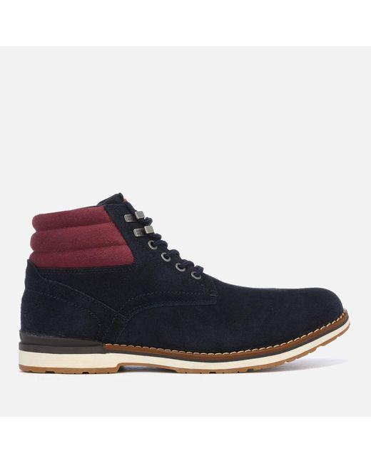df535487de6e Tommy Hilfiger - Blue Outdoor Suede Boots for Men - Lyst ...