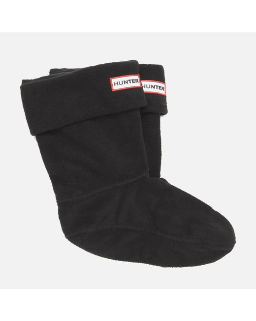 Hunter - Black Unisex Short Fleece Welly Socks - Lyst